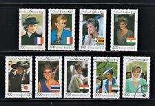 Somali Republic Stamps 1998 Princess Diana Complete set, used, cto
