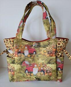 Pumpkins Sunflowers Vintage Truck Handmade Tote/Purse/Handbag