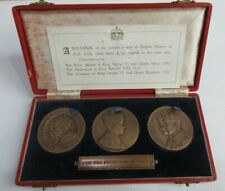 More details for 1936 year of 3 kings bronze 3 coin set george v edward vii george vi box & coa