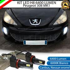 KIT FULL LED PEUGEOT 308 MK1 I LAMPADE H8 FENDINEBBIA CANBUS 6400L 6000K