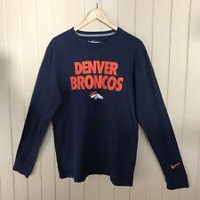 e0b0b1852 Denver Broncos Nike Team Apparel Long Sleeve Shirt Men s Medium Blue Orange