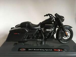 Harley Davidson Modèle, 2017 Road King Spécial (36), Maisto Moto 1:18