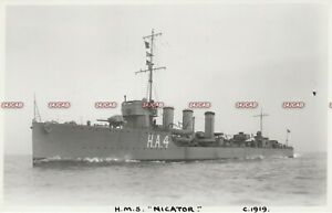 "Photograph Royal Navy. HMS ""Nicator"" Destroyer. Battle Jutland WW1. Fine!  1919"
