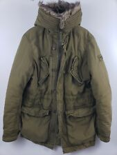 Vintage Ambercrombie and Fitch Wilcox Winter Coat Military Parka Fur Hood Jacket