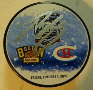 Autographed BRENDAN GALLAGHER Signed Canadiens 2016 NHL Winter Classic puck