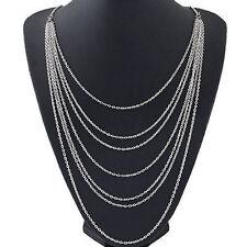 Womens Charm Pendant Jewelry Chain Bib Statement Chunky Choker Necklace Collar