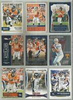 Peyton Manning Denver Broncos Tennessee 9 card 2016 lot-all different