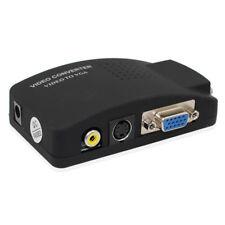 PC Laptop Video TV VGA/S-video/Composite RCA/ AV to VGA Converter Switch Adapter