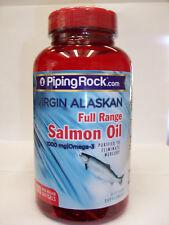 Virgin Alaska Full Range Salmon Oil  2000 mg - 1000 mg/Omega-3 - 180 Softgels