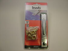 Tarpaulin/awning eyelet repair kit 10mm,tool + 12 pr eyelets