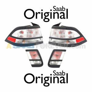 NEW SAAB 9-3 TAIL LIGHT ICE BLOCK SET ALL 4 LIGHTS - 08-11 - Sedan - GENUINE OEM