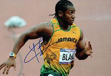 Johan BLAKE Autograph Signed 12x8 Photo AFTAL COA Jamaica Athlete Sprinter