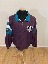 Vintage Starter Anaheim Mighty Ducks Zip Up Windbreaker Jacket Size L Spellout