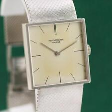 1965s PATEK PHILIPPE SQUARE 3503/1 18K SOLID WHITE GOLD MANUAL WIND UNISEX WATCH