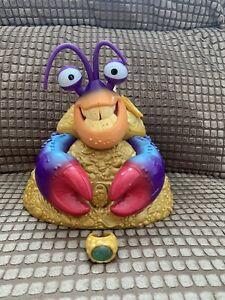 "Disney MOANA Tamatoa Singing Musical Shiny Crab 7"" Treasure Jewellery Box & Ring"
