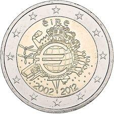 Irland 2 Euro Gemeinschaftsausgabe 2012 bfr. 10 Jahre Euro Bargeld