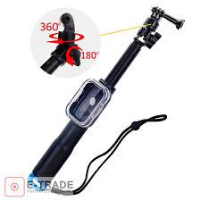 Extendable Handheld Selfie Stick Monopod +WiFi Remote Case For GoPro Hero 3/3+/4