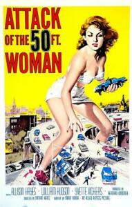 Attack of the 50 Foot Woman Vintage Movie Poster Lithograph Hand Pulled S2 Art