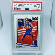 2018-19 chronicles luka doncic Score Red /149 Psa 10 Ssp