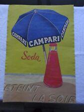 Altes Werbeplakat, Litfaßsäule - CAMPARI Soda, Eteint La Sole