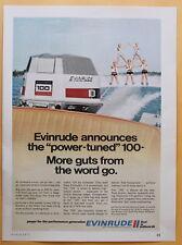 Evinrude 100 hp Outboard Magazine Print Ad 1971