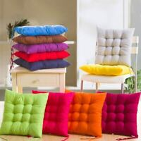 Seat Pad Dining Room Home Garden Kitchen Soft Square Chair Cushions with Tie On