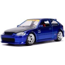 1/24 Jada JDM TUNERS 1997 Honda Civic Type-R (EK) Diecast Model Car Blue 30929