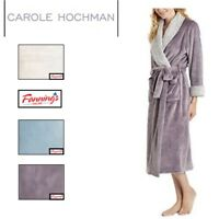 CAROLE HOCHMAN WOMENS PLUSH SOFT POLYESTER FLEECE WRAP ROBE VARIETY A15