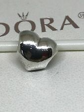 Authentic Pandora Sterling Silver Big Smooth Heart Bead Charm #790137 VALENTINES