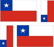 4 X Sticker Car Sticker Tuning Motorcycle Car Sticker Flag Flag Chile