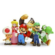 6Pcs Set Super Mario Bros Toy Figurines For Children Boy Gift or Cake Toppers