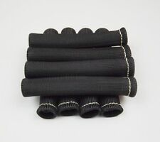 8PCS High Heat Shield Engine Spark Plug Wire Boots Protector Sleeve Cover BLACK