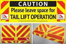 Banderas de advertencia de elevación de la cola/marcadores de plataforma y Paquete de Etiqueta