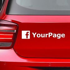 Custom Facebook Instagram Social Media Name Business Address Sticker Label Decal