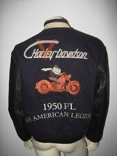 Harley Davidson TAZ Varsity Letterman Motorcycle Jacket Size MEDIUM