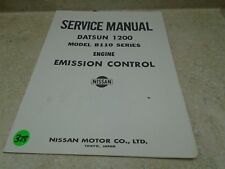 Datsun 1200 Model B110 Emission Control Nissan Manual VP 70s VP-CM323