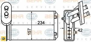 HELLA 8FH351001-611 Wärmetauscher für Innenraumheizung Heizungskühler