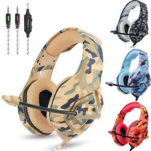 UK ONIKUMA K1 Gaming Headset for PS4 Xbox Switch 3.5MM MIC Headphone Camouflage
