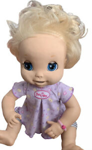 Baby Alive Learn To Potty 2007 Hasbro Interactive Soft Face Doll Blonde Working