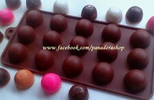 Small Chocolate Buttons Fondant Clay Jelly Soap Embeds Silicone Mold Molder