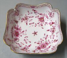 Meissen Indian Pink Purple Floral Square Vegetable Bowl