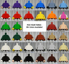 LEGO - Minifigure Torso Plain - PICK YOUR COLOR - Solid Monochrome Blank Town
