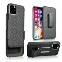 For iPhone 11 11 Pro Max XR Military Case With Kickstand Holster Belt Clip Cover