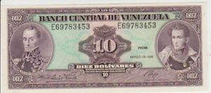 Venezuela 10 Bolivares 1986 Pick 61a UNC