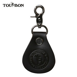 Tourbon Leather Fly Fishing Line Leader Straightener Cleaner Patch Clip on Belt