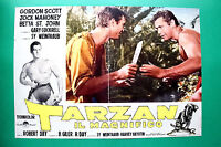 T06 Fotobusta Tarzan Die Wunderschöner Gordon Scott Jock Mahoney Robert Day RAR