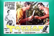 T06 FOTOBUSTA TARZAN IL MAGNIFICO GORDON SCOTT JOCK MAHONEY ROBERT DAY RARA