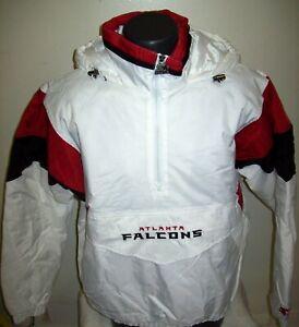 ATLANTA FALCONS Starter Hooded Half Zip Pullover Jacket  WHITE  3X   4X
