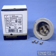 Leviton Gray L14-20P Locking Flanged Inlet Turn Twist Plug 20A 125/250V 2415-GY