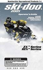 Ski-Doo owners manual book ZX & REV 2005 LEGEND SPORT / SE V-1000